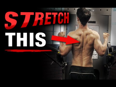 Mid Back Stretch and Rhomboid Release (HOW TO TARGET THIS!)