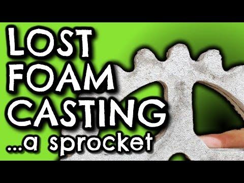 Lost Foam Casting an Aluminium Gear or Sprocket by VegOilGuy