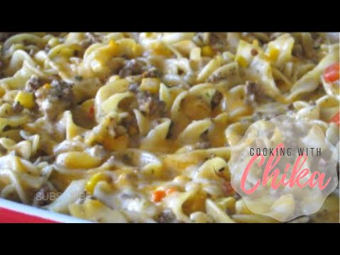 Quick and Easy Cheesy Beef Pasta Bake Recipe - Beef Corn Bake | Borrowed Delights – Episode 36