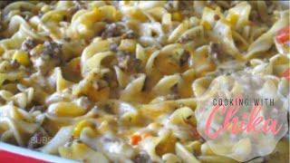 Quick And Easy Cheesy Beef Pasta Bake Recipe Beef Corn Bake Borrowed