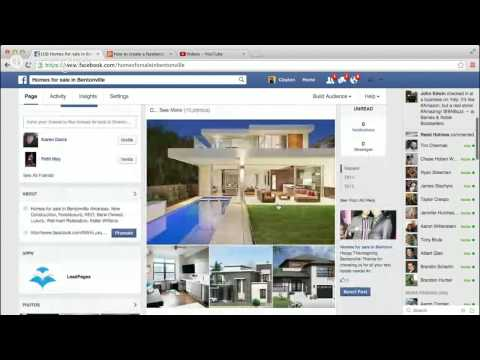 How to create a facebook ad with a landing page