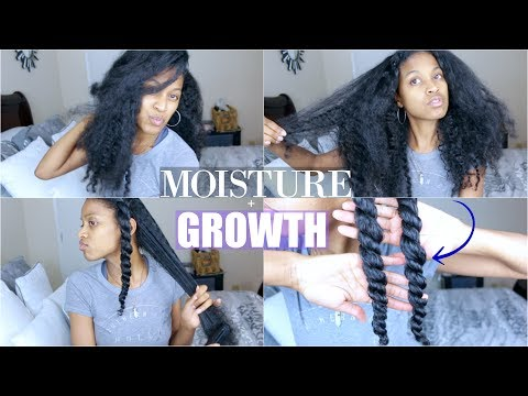 EXTREME Moisture + Growth Routine on Natural Hair (Updated)