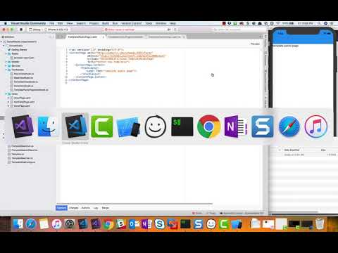 Part 1: Building an iOS app with Visual Studio Mac and Xamarin Forms: dotnet templates app