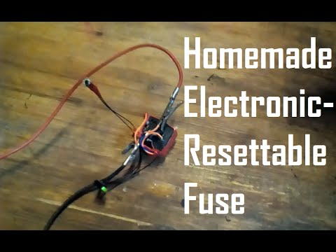 Homemade Electronic-Resettable Fuse (circuit breaker)