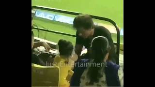 Shahrukh Khan with Sakshi Dhoni and Ziva  in Chennai