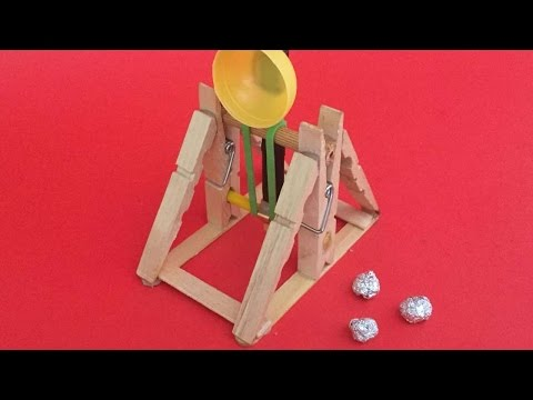 How To Make An Awesome Wooden Catapult - DIY Crafts Tutorial - Guidecentral
