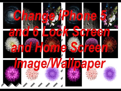 Change iPhone 5 or 6 Home Screen and Lock Screen Image/Wallpaper