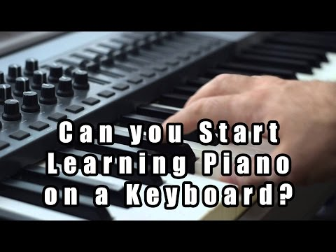 Can you Start Learning Piano on a Keyboard?