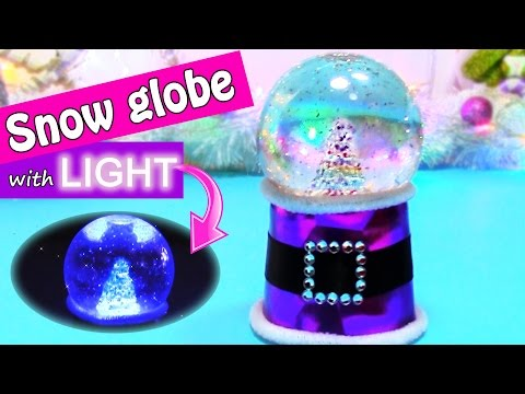DIY Christmas crafts: SNOW GLOBE with LIGHT - Innova crafts