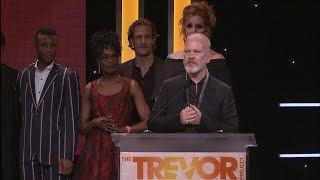 Ryan Murphy & the Cast of POSE Accept Hero Award at TrevorLIVE LA 2018