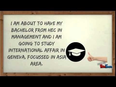 Visual CV for an NGO internship