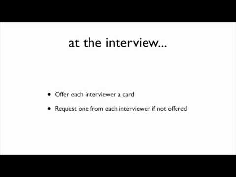 Job Seeker Tip - Have a Business Card
