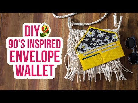 How to Craft a Duck Tape® 90's Inspired Envelope Wallet