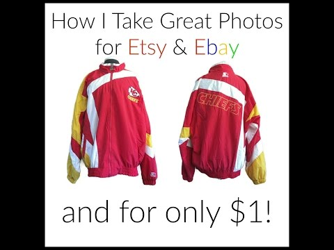 How I Take Great Photos for Etsy & Ebay - and for only $1!