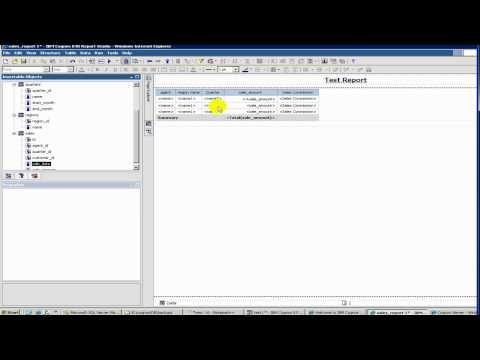 Cognos Tutorial - 8 Report Studio - Filters