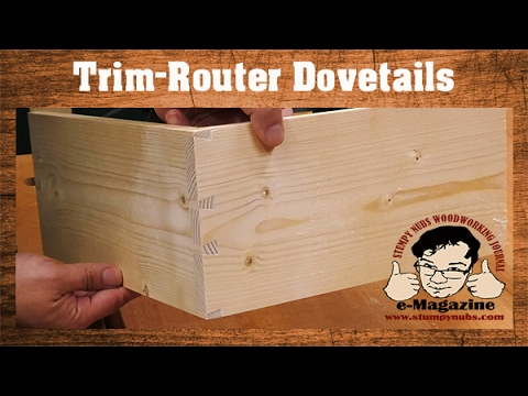 SIMPLE JIG- Handheld router dovetails that LOOK HAND CUT!