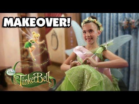 BIBBIDI BOBBIDI BOUTIQUE!!! Tinkerbell Makeover!  Meeting Princesses at Disneyland!