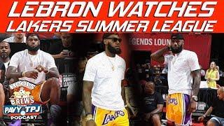 Reaction to LeBron Attending 2018 NBA Summer League | Hoops N Brews