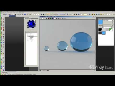 V-Ray for SketchUp - Materials - The Refraction Layer - tutorial