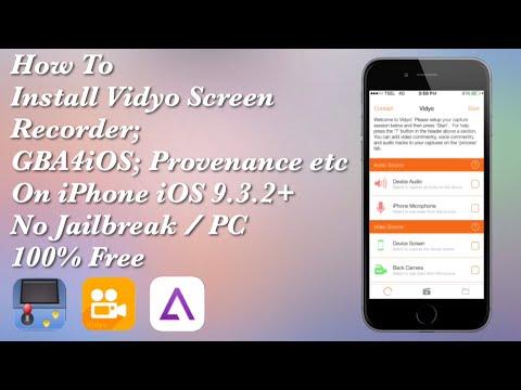 [Emus4u] Install Vidyo Screen Recorder, GBA4iOS etc iPhone / iPad / iPod iOS 9.3.2+ No JB/PC