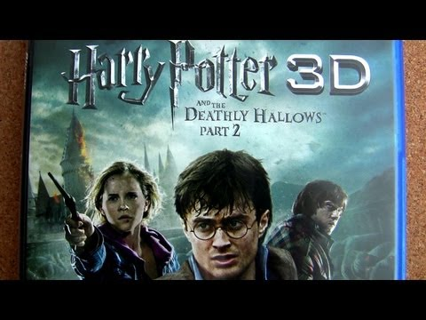 Harry Potter Deathly Hallows blu-ray 3D part 1 - part 2 unboxing review