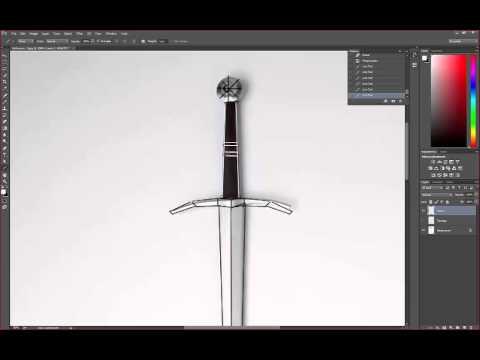 Day Zero - PhotoShop Sword Topology Drawover