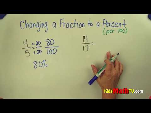How to convert fractions to percentages step by step video