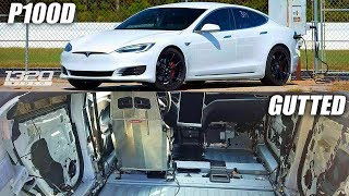 Gutted Tesla P100D Sets NEW Quarter Mile Record Drag Racing!