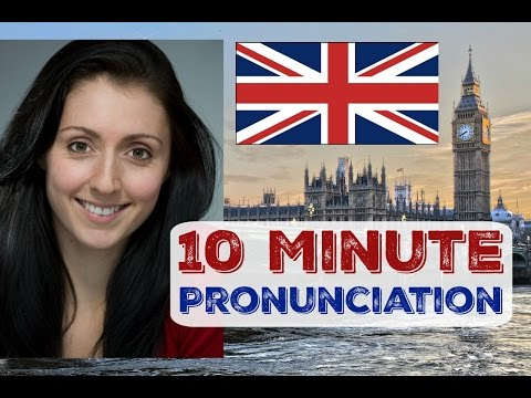 #1 BRITISH ENGLISH PRONUNCIATION in 10 Minutes / BRITISH ACCENT Daily Training