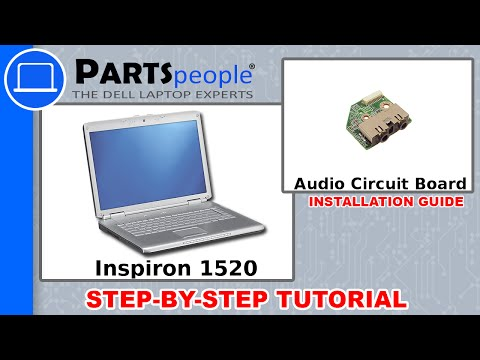 Dell Inspiron 1520 Audio Circuit Board Replacement Video Tutorial