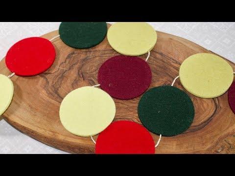 How to make a felt Christmas garland