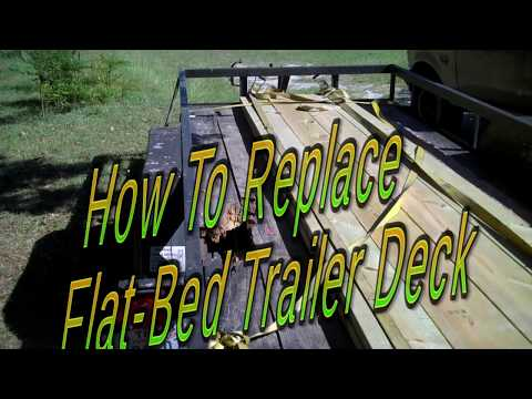 How to Remove and Install Flat-Bed Trailer Deck ~ 16 Foot Deck/The Allen Brothers