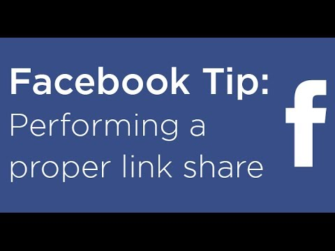How to post a Facebook link share