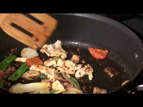 Triple Fragrance Stir-Fry With Crispy Rice