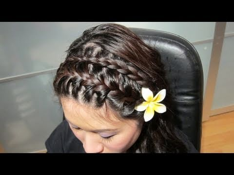 Double back french braided head band
