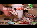 HOW TO MAKE FULL NUTELLA CHOCOLATE PIZZA AND COLORFUL M&M