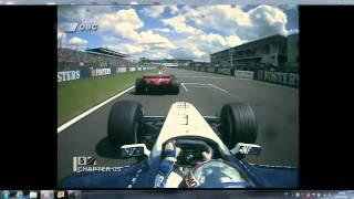 F1 2001 Silverstone Montoya dépasse Michael Schumacher