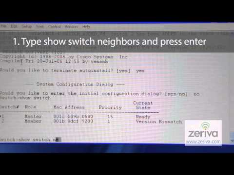 How to find nearby a switch on each port in a stack of Cisco 3750G's.  Show Switch Neighbor command.