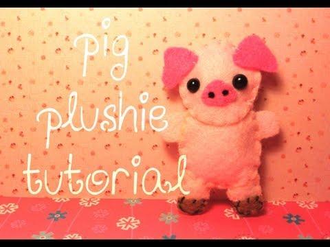 How to Make a Cute Pig Plushie