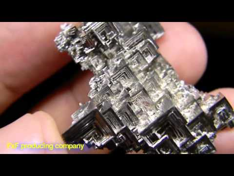 Кристалл Висмута/ Growing crystals of bismuth