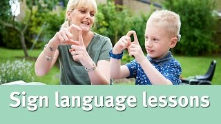 My deaf child and getting sign language lessons