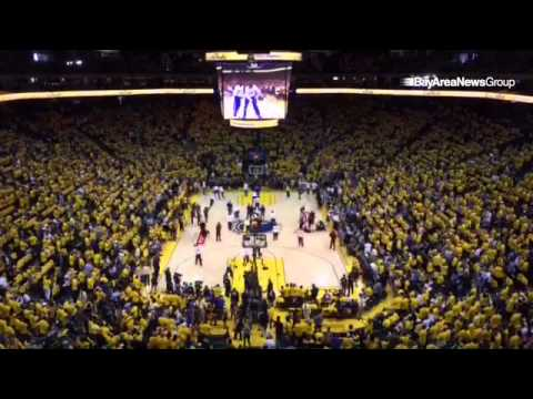 Fans enter Oracle Arena before Game 2 of the NBA Finals in Oakland, Calif.