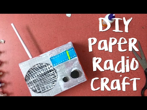 DIY Radio Paper Craft for kids, How to make paper craft RADIO in 5 minutes, paper radio step by step