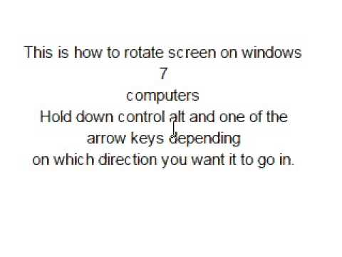 How to rotate your screen on windows 7