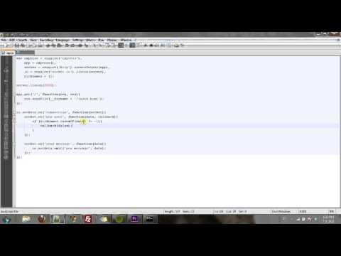 Node.js & Socket.io Chat Part Two: Adding Usernames