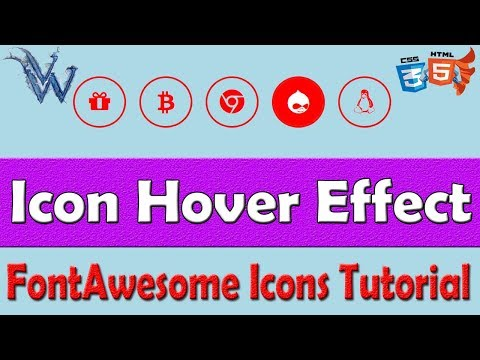 CSS icon hover effect color change | Font awesome tutorial By Amazing Techno Tutorials