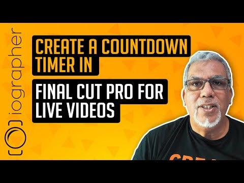 Create a countdown timer in Final Cut Pro for Live Videos