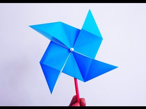 How to make a Paper Windmill that Spins ~DIY~ Origami Pinwheel Tutorial ...