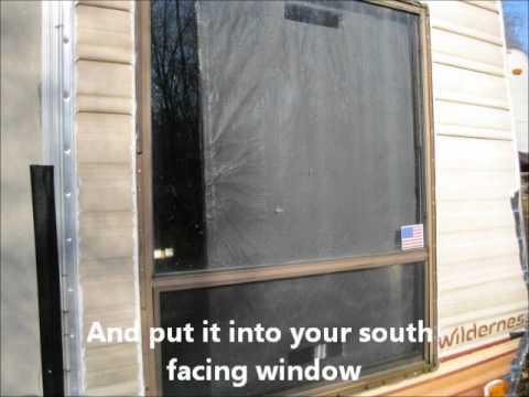 The DIY Passive Solar Window Heater. How to make a passive solar heater.