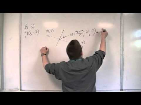 OCR MEI Core 1 2.11 Finding the Perpendicular Bisector of Two Points